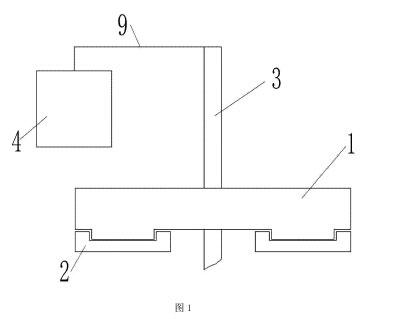 图2磨盘部位仰视结构示意图