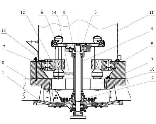 磨粉机的结构示意图